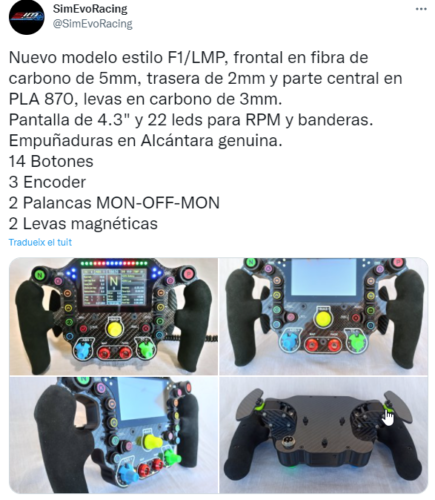 2021-10-06 09_19_43-SimEvoRacing a Twitter_ _Nuevo modelo estilo F1_LMP, frontal en fibra de carbono